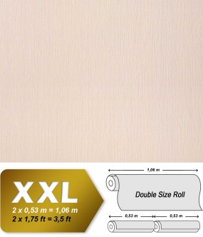 Plain wallpaper non-woven embossed texture EDEM 901-12 fabric textile look light beige | 10,65 sqm (114 sq ft) XXL