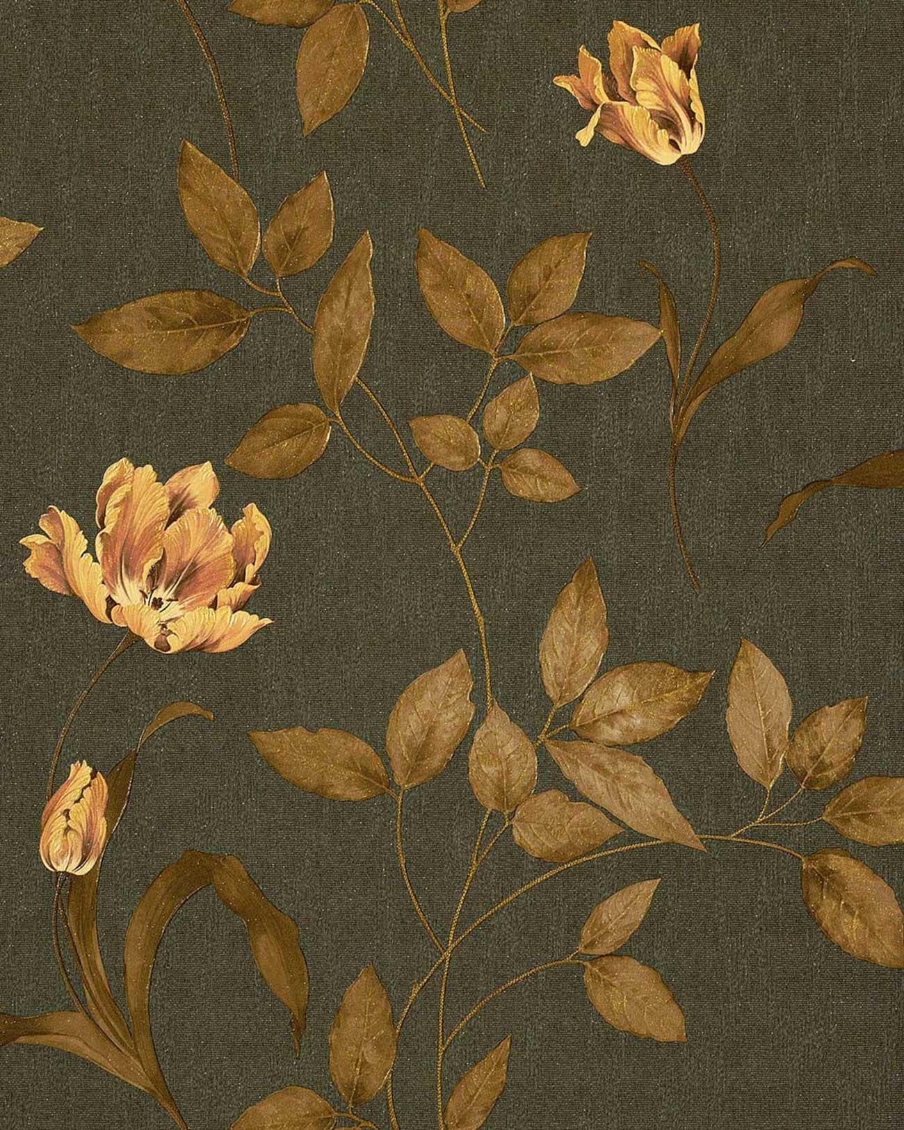 Textil Tapete Ueberstreichen : Brown Copper and Gold Fabric
