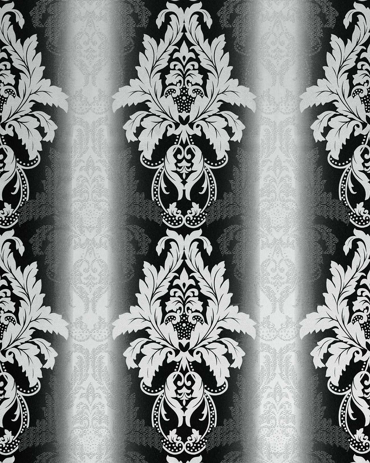 Barock Tapete Schwarz Wei? : Baroque Black and White Damask Wallpaper